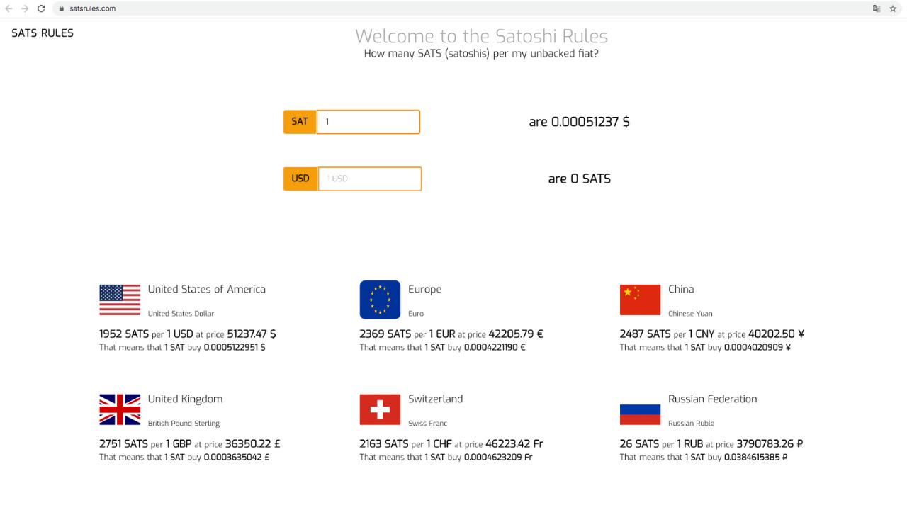 satsrules.com bitcoin